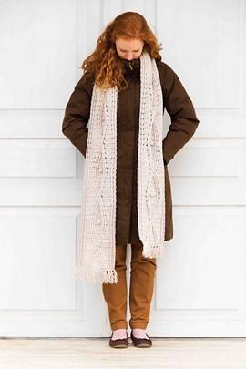 Haakpatroon sjaal, gemaakt van Bergere ....