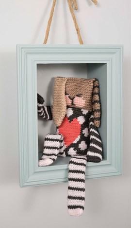 Haakpatroon knuffelhaas, gemaakt van ....