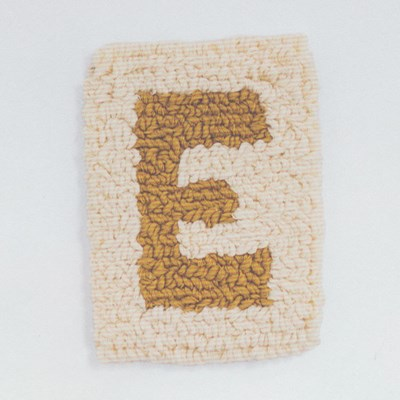 Macrame patroon Letter