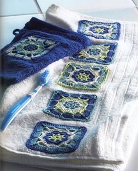 Maak je handdoeken fraai met granny ....