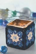 Haakpatroon waxinehouder, gemaakt van ....