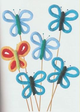 Maak vlinders in alle kleuren en steek ....