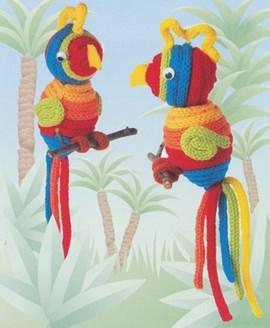 Is hij niet prachtig deze papegaai in ....