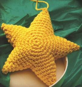 Gele ster voor in de kerstboom.