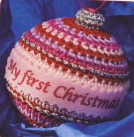 Kerstbal voor de keerste kerst voor een ....
