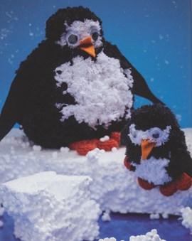 Deze pinguin zal het niet snel koud ....