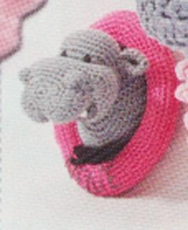 Wandbord Nijlpaard klein