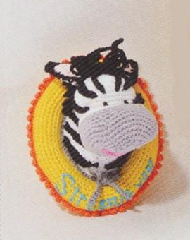 Wandbordje met zebra.