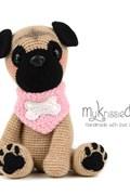 Haakpatroon Mopshond Pip, gemaakt van ....