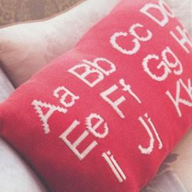 Alfabet kussen