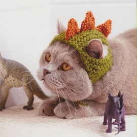 Kattenmuts met dinosauruspunten!
