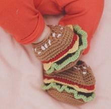 Hamburger slofjes