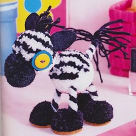 Zebra van pompons