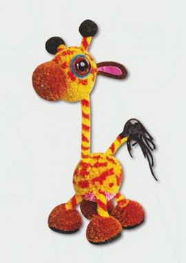 Giraf van pompons