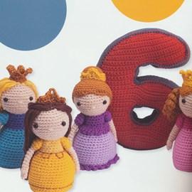Cijfer 6 met prinsesjes