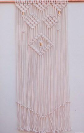 Geknoopte wandhanger. 70x110cm