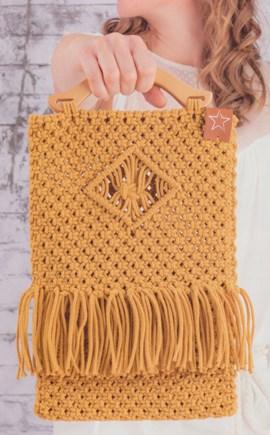 Macrame patroon tas, gemaakt van ....