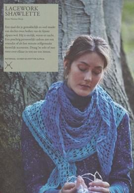 Gehaakte sjaal. 65x170 cm