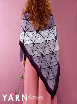 Haakpatroon driehoeksjaal, gemaakt van ....