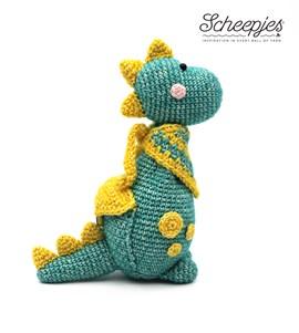Haakpatroon geeftbeestje Dino, gemaakt ....