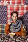 Breipatroon sjaal met borduurwerk, ....