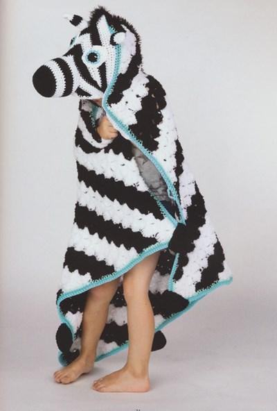 Haakpatroon Zebra cape