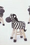 Haakpatroon krukje zebra