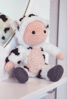 Haakpatroon zwart gevlekte koe Kobus, ....