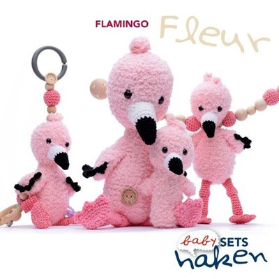 Haakpatroon Babyset Flamingo Fleur