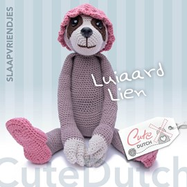 Haakpatroon Luiaard Lien, gemaakt van ....