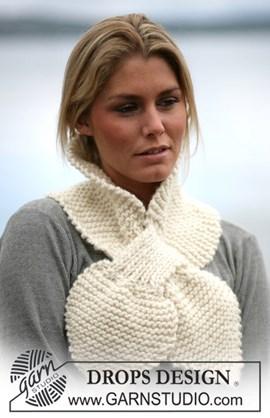 DROPS breipatroon: Sjaal gemaakt van ....