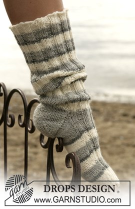 DROPS breipatroon: Sokken in ....