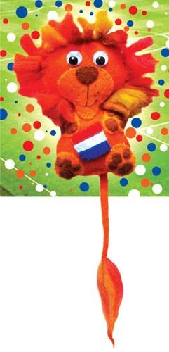 Vilt patroon WK Leeuw van vilt.