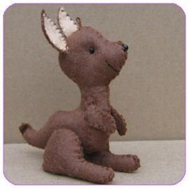 Maak je eigen kangoeroe van vilt