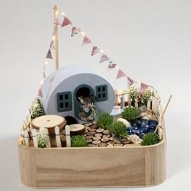 Miniatuur camping