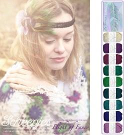 Haakpatroon omslagdoek in de kleuren ....