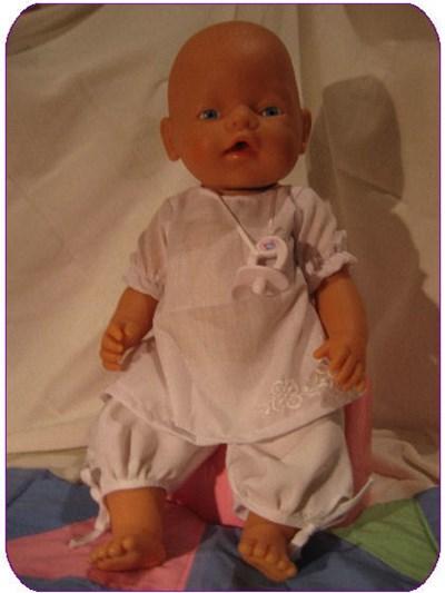 Naaipatroon Babyborn jurk broek