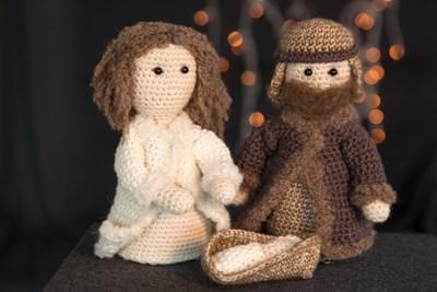 Haakpatroon Jozef, Maria en kindje Jezus