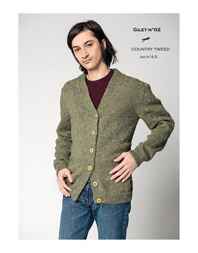 Breipatroon Vest voor heren