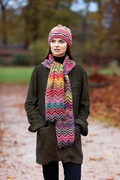 Breipatroon Sjaal met muts