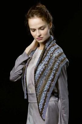Haakpatroon gehaakte driehoekige sjaal ....