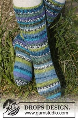 Gebreide sokken in Fabel.
