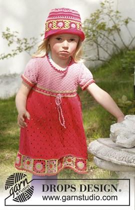 Gebreide jurk met korte mouwen en ....