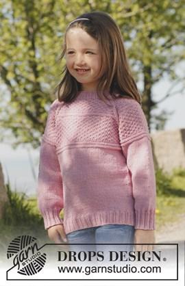 Gebreide trui met raglan, van boven ....