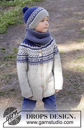 Gebreid jongensvest met Noors patroon.