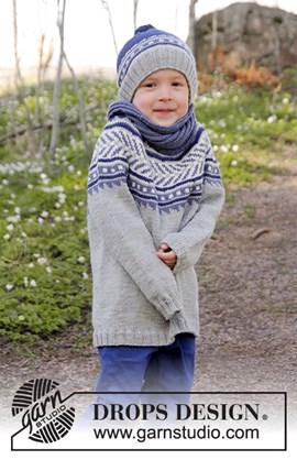 Gebreide jongenstrui met Noors patroon.