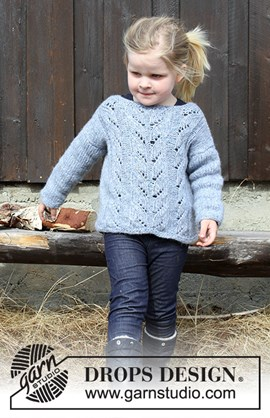 Breipatroon trui Julie, voor meisjes. ....