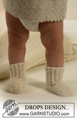 Warme babytenen in sokken van naturel ....