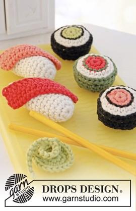 Sushi en maki met wasabi