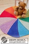 DROPS breipatroon colour wheel carpet, ....